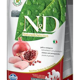 N&D dog GF ADULT MEDIUM CHICKEN/POMEGRANATE - 2,5kg