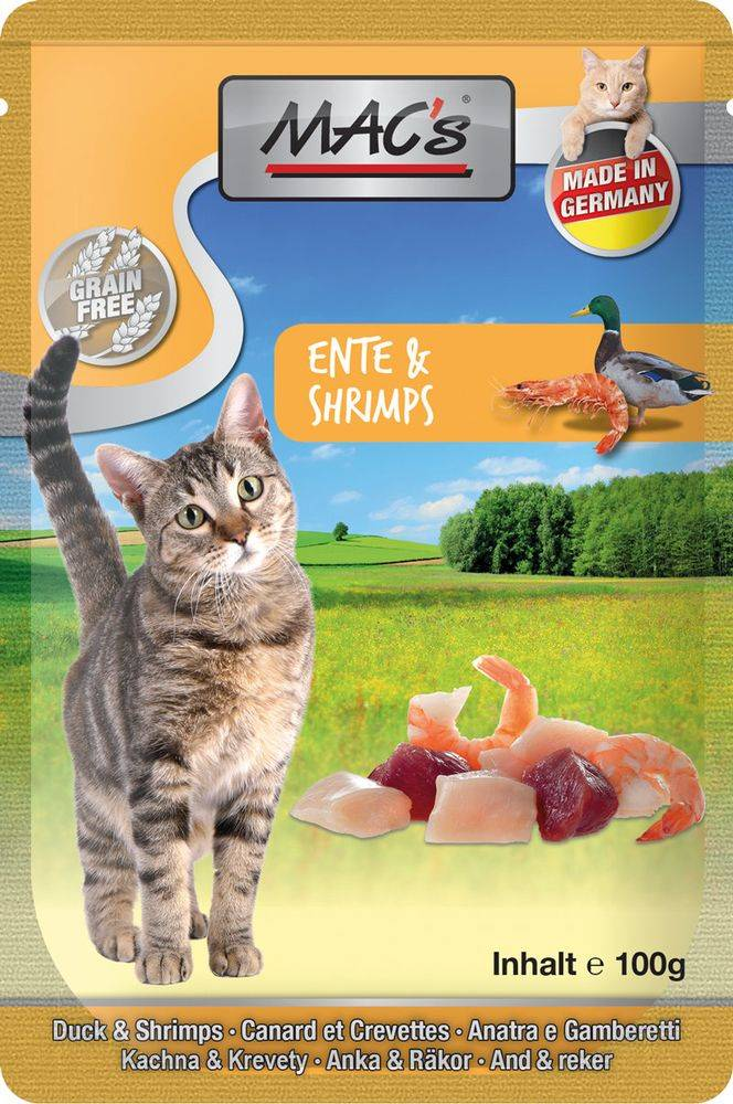 (bez zařazení) MACs  cat  kapsa ENTE/SHRIMPS - 100g