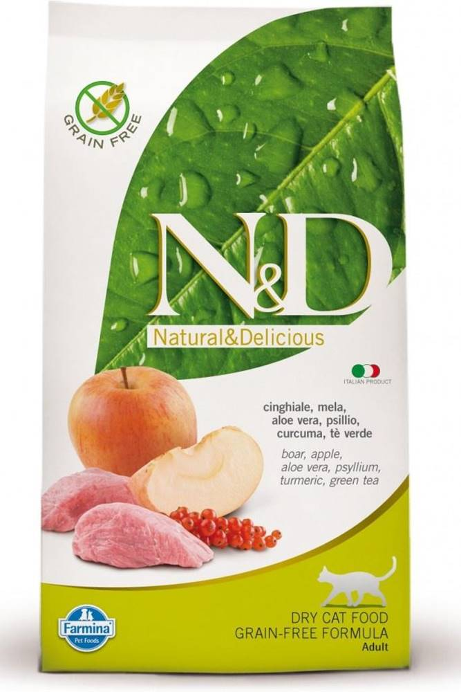 Natural&Delicious N&D cat GF ADULT BOAR / APPLE - 300g