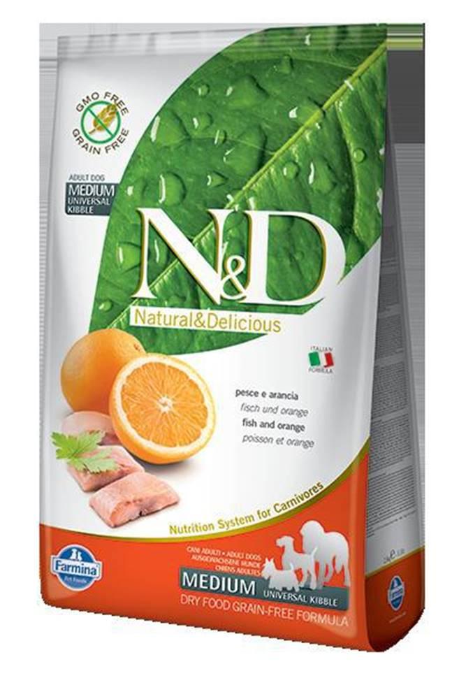 Natural&Delicious N&D dog GF ADULT MEDIUM FISH/ORANGE - 800g