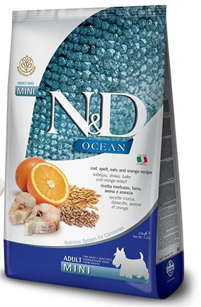 Natural&Delicious N&D dog LG OCEAN ADULT MINI CODFISH/ORANGE - 800g