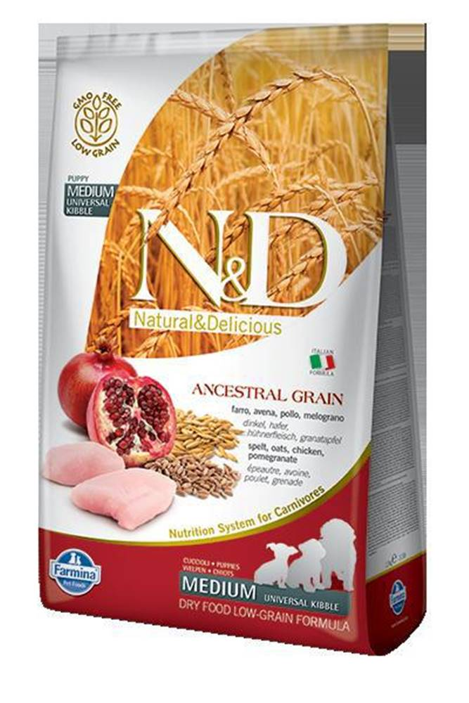 Natural&Delicious N&D dog LG PUPPY MEDIUM CHICKEN/POMEGRANATE - 800g