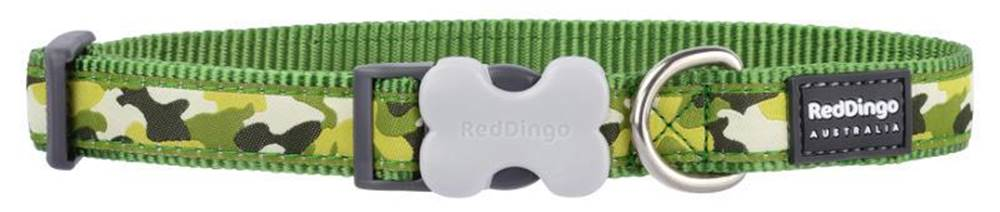 Red-dingo Obojok RD CAMOUFLAGE GREEN - 1,2/20-32cm