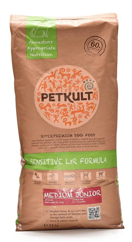 Petkult PETKULT dog  MEDIUM JUNIOR lamb/rice - 2kg