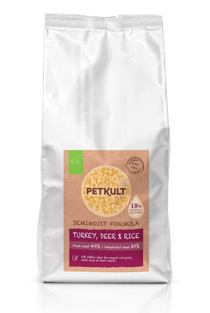 Petkult PETKULT dog SEMIMOIST/MINI ADULT turkey - 1,5kg