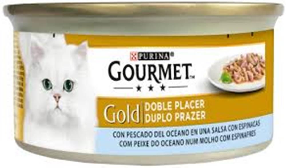 Gourme gold PURINA GG double pleasure  MOŘSKÉ ryby/špetnát v sosu konzerva - 85g