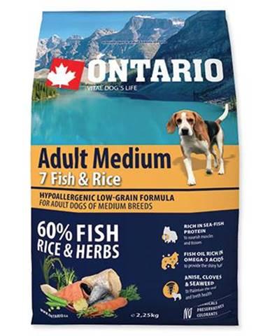 ONTARIO dog  ADULT MEDIUM fish - 2,25kg