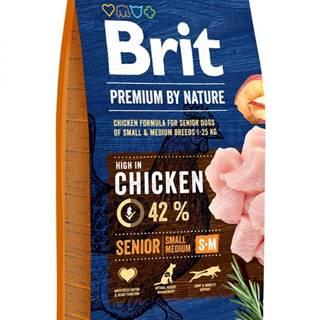 BRIT dog Premium By Nature SENIOR S+M - 3kg
