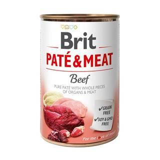 BRIT  konzerva PATE and MEAT 400g - HOVÄDZIE