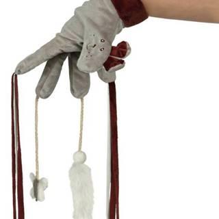 HRAČKA plyšová RUKAVICE s hračkami / strapcami - 30cm