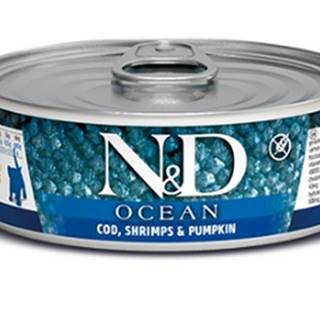 N&D cat  konz.  KITTEN OCEAN TUNA,COD,SHRIMP/PUMPKIN - 12 x 80g