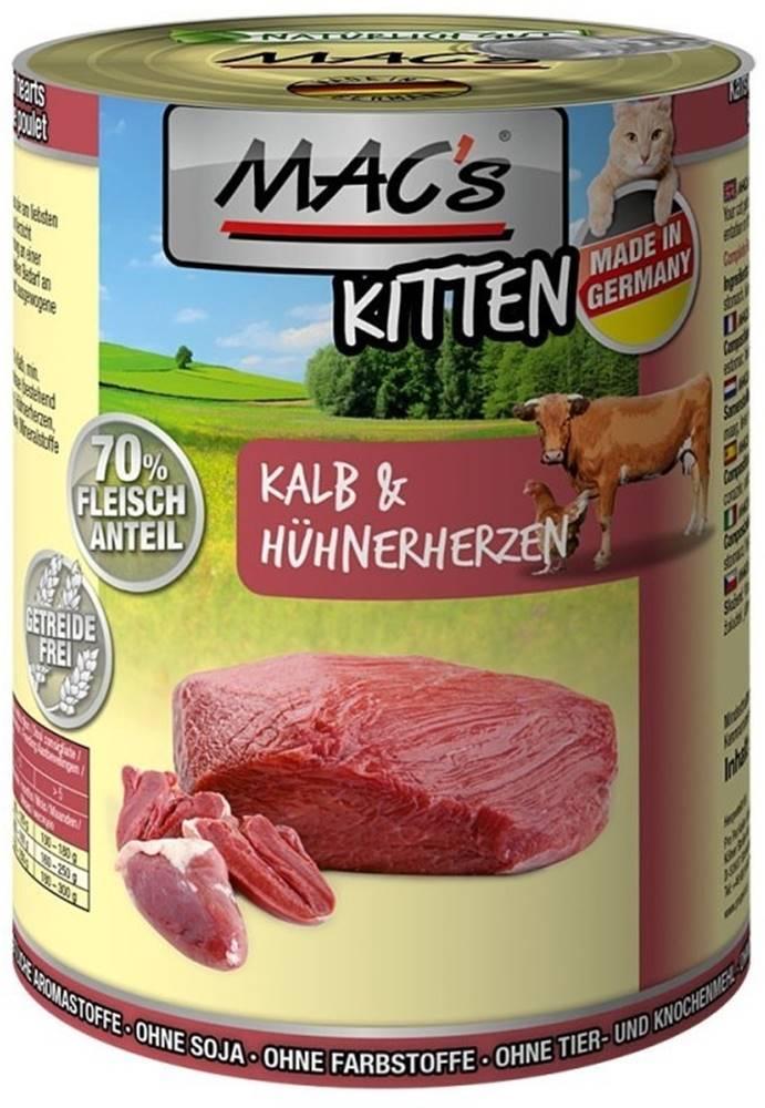 (bez zařazení) MACs  cat  konz. KITTEN  kalb/hunherherzen - 400g