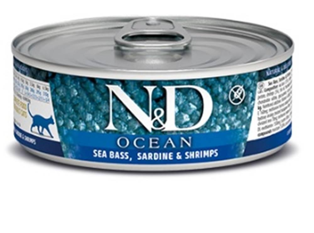 Natural&Delicious N&D cat  konz. OCEAN TUNA, SARDINE/SHRIMP - 12 x 80g