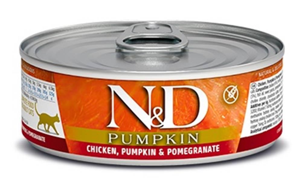 Natural&Delicious N&D cat  konz. PUMPKIN chicken/POMEGRANATE - 12 x 80g