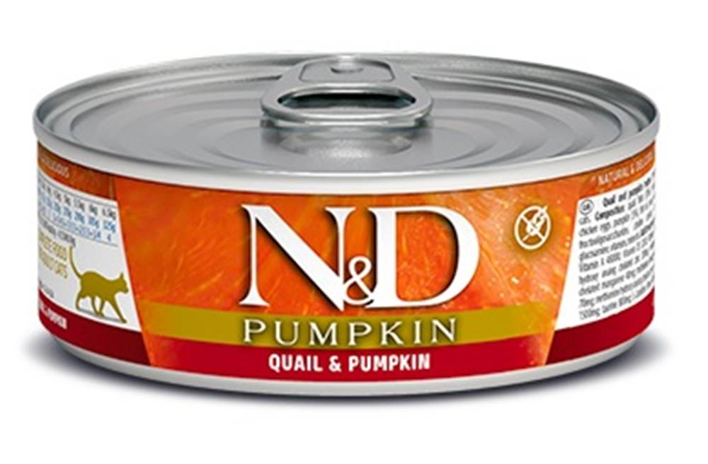 Natural&Delicious N&D cat  konz. PUMPKIN/QUAIL - 12 x 80g