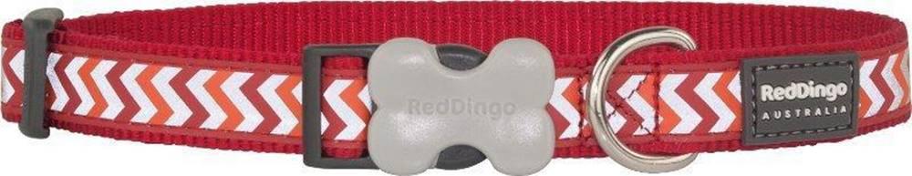 Red-dingo Obojek RD reflective ZIGGY/red - 1,2/20-32cm