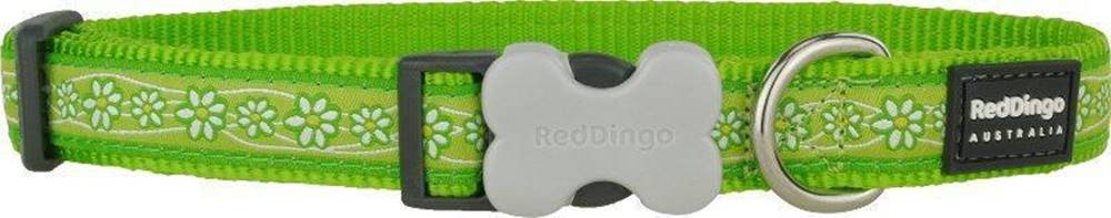 Red-dingo Obojok RD DAISY chain LIME green - 1,2cm/20-32cm