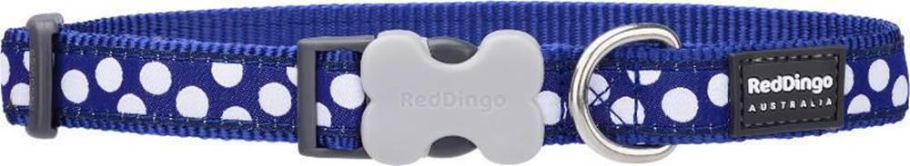 Red-dingo Obojok RD WHITE spots on NAVY - 1,2/20-32cm