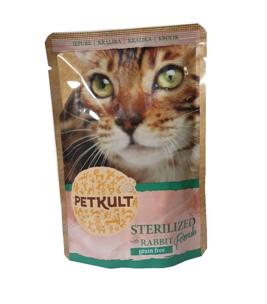 (bez zařazení) PETKULT cat kapsa STERILISED králík - 100g