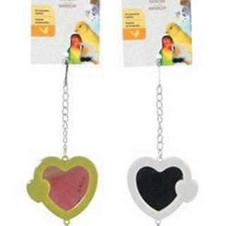 Hračka pro ptáky zrcátko srdce plast Zolux