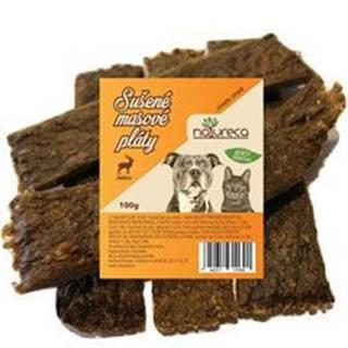 NATURECA pochoutka Masové pláty-Jelen,  100%maso 100g