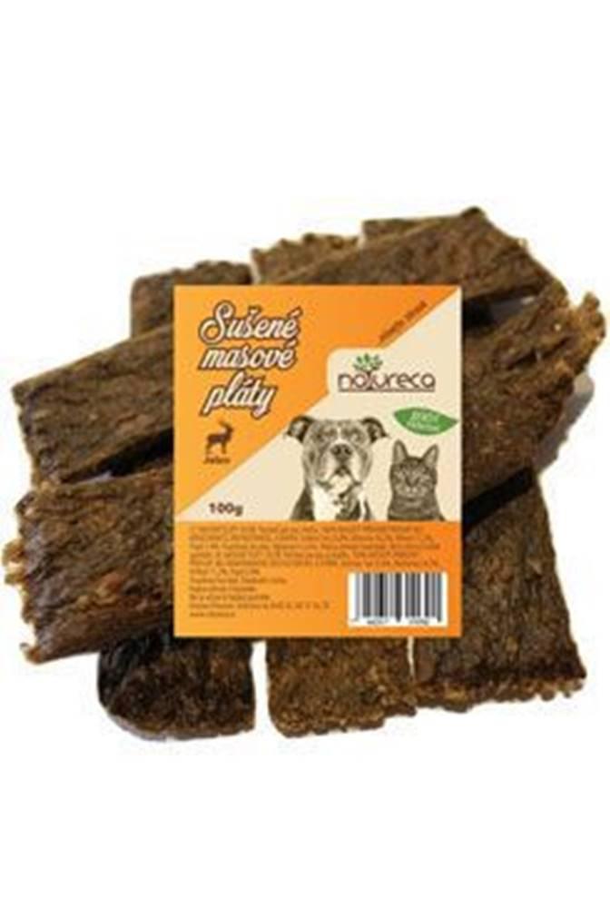 NATURECA NATURECA pochoutka Masové pláty-Jelen,  100%maso 100g