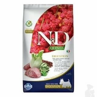 N&D Quinoa DOG Digestion Lamb & Fennel Mini 2,5kg