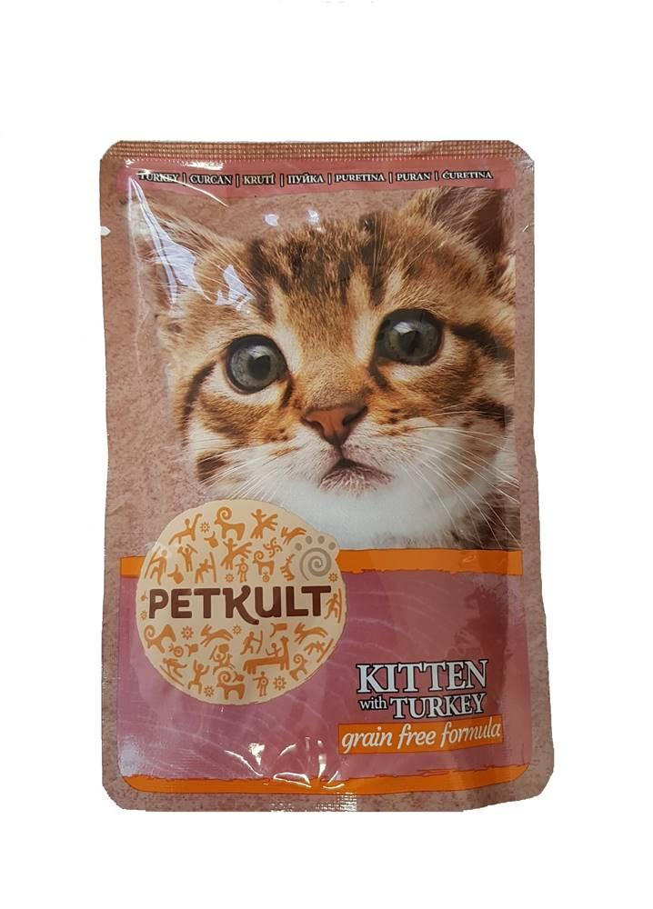 Petkult PETKULT cat kapsa KITTEN/turkey - 100g