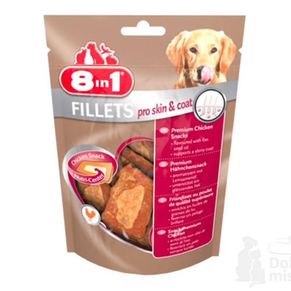 8 in 1 Pet Products GmbH Pochoutka 8in1 Fillets pro skin&coat S 80g