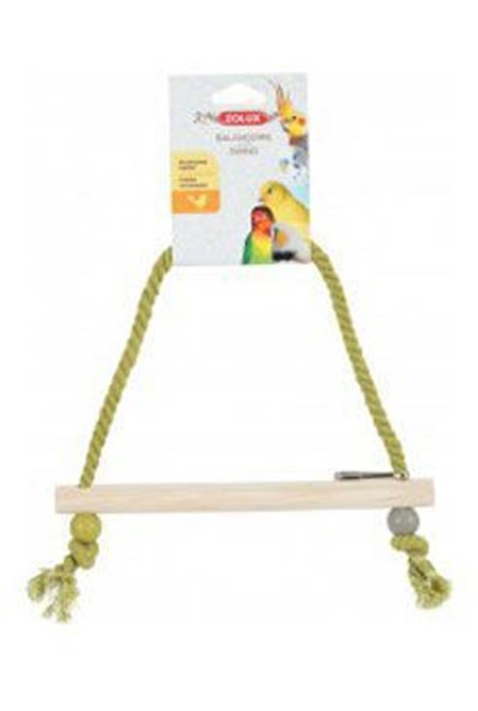 Zolux Houpačka pro ptáky dřevěná s provazem 27cm Zolux