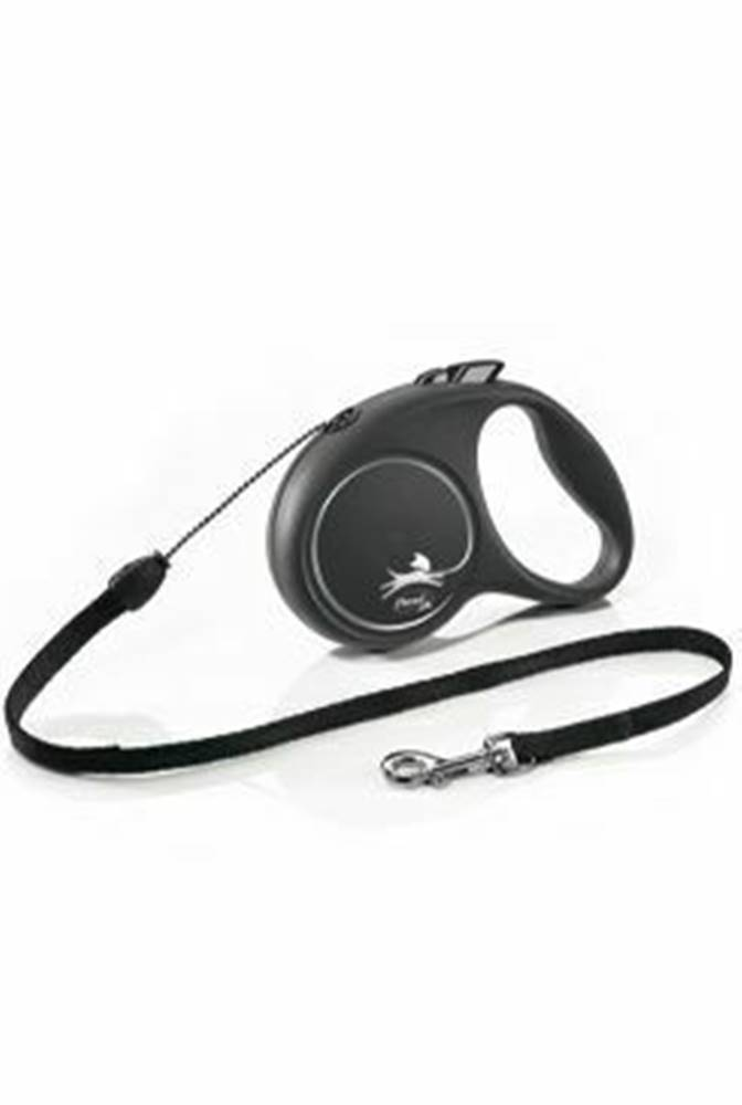 Flexi Vodítko FLEXI Black Design S lanko 5m / 12kg strieborná NEW