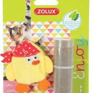 Hračka mačka PIRATE plniace + kocúrnik žltá Zolux