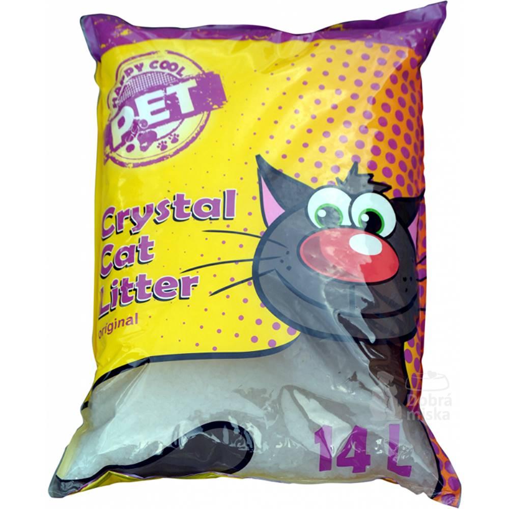 Ostatní Podstielka Happy Cool Pet Silica Original14l