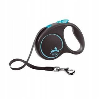 FLEXI Vodítko Black Design L lanko 5 m modré