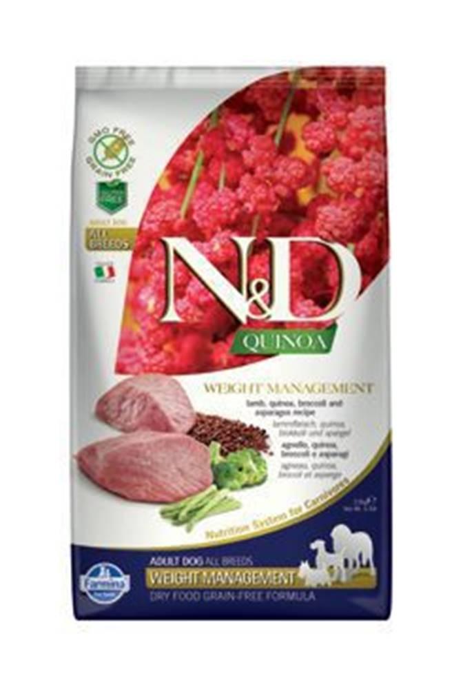 N&D N&D GF Quinoa DOG Weight Mnmgnt Lamb & Broccoli 2,5kg