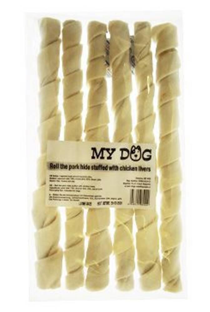 For Dogs and Cats Pochoutka Rolka z vepřové kůže s kuř. játry 25cm 6ks