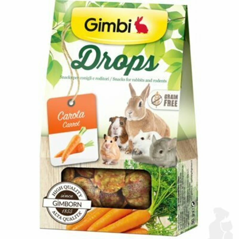 Gimbi Gimbi Drops pre hlodavce s mrkvou 50g