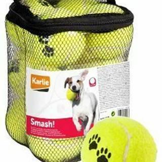 Hračka pes Tenisové loptičky 12ks 6cm žltá KAR