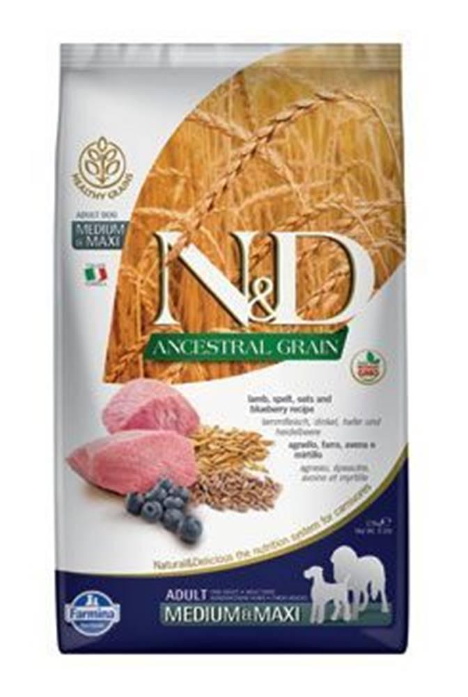 N&D N&D LG DOG Adult M/L Lamb & Blueberry 2,5kg