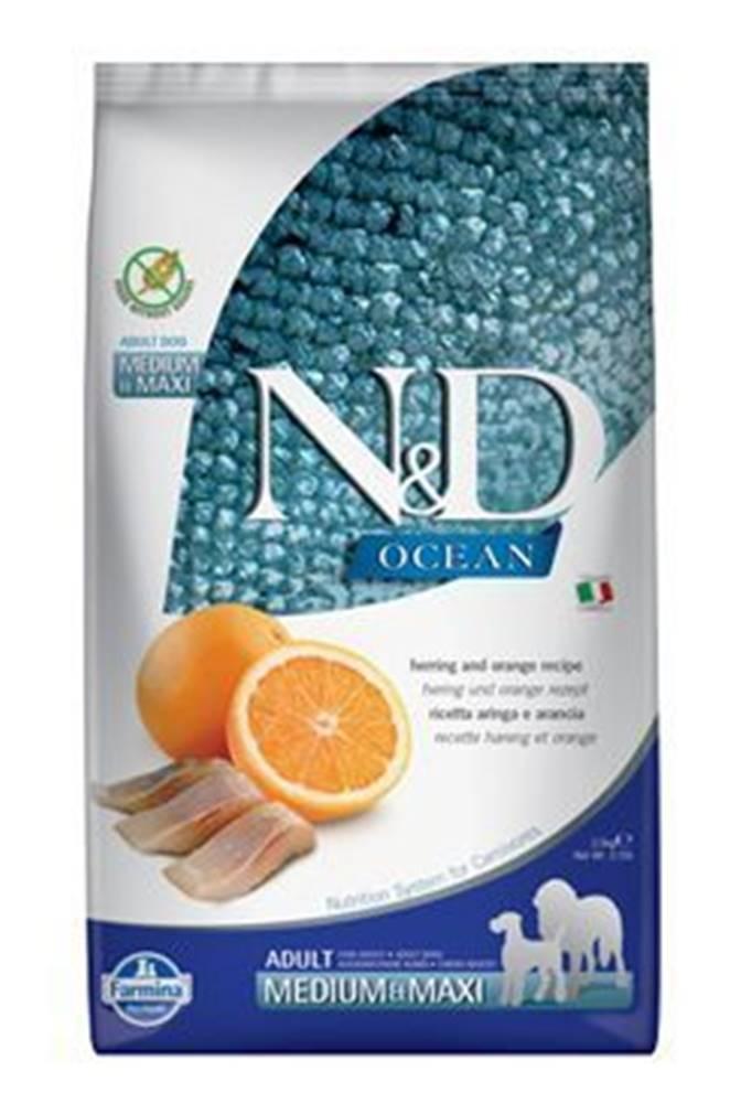 N&D N&D OCEAN DOG GF Adult M/L Herring & Orange 2,5kg