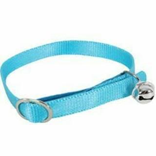 Obojok mačka nylon 10mm / 30cm modrý Zolux