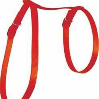 Postroj mačka nylon 10mm červený Zolux