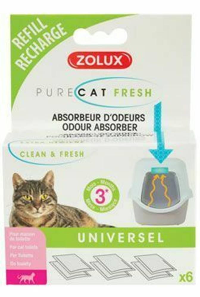 Zolux PURECO Refill osviežovač a pohlcovač zápachu 6x Zolux