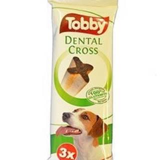 Pochoutka dentální TOBBY DENTAL CROSS S-M 70g 3ks