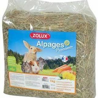 Seno Alpine Premium Mrkva / Púpava 1kg Zolux