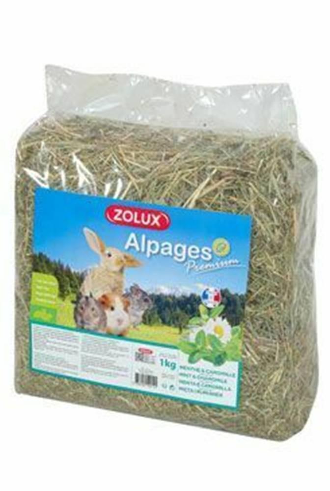 Zolux Seno Alpine Premium Mäta / Harmanček 1kg Zolux
