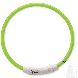 Obojek DOG FANTASY světelný USB zelený 45 cm 1ks