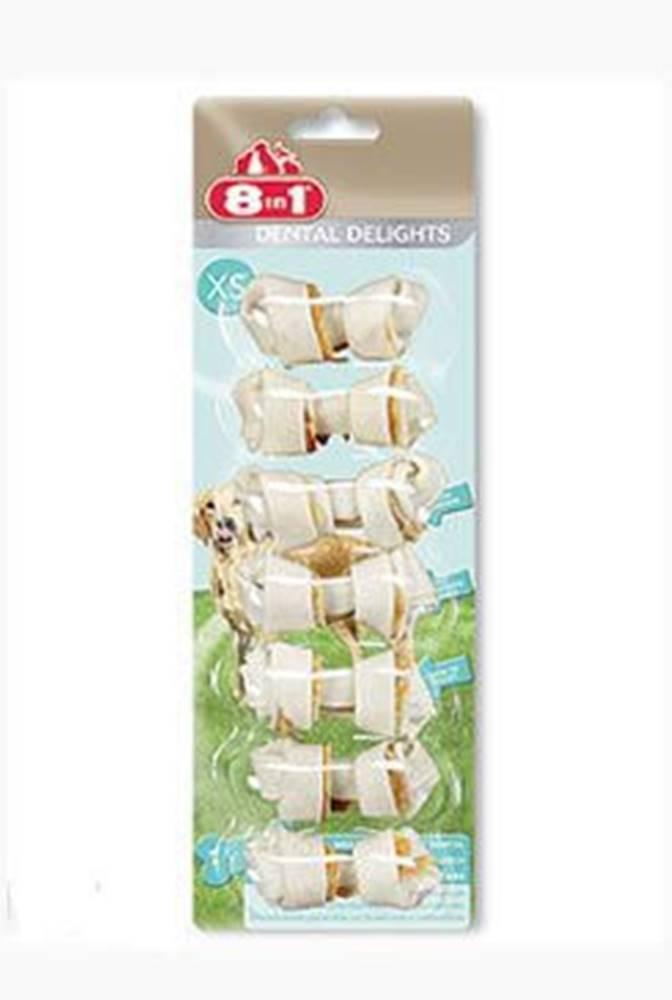 8 in 1 Pet Products GmbH Kosť žuvacia s minerálmi Dental Delights XS 7ks