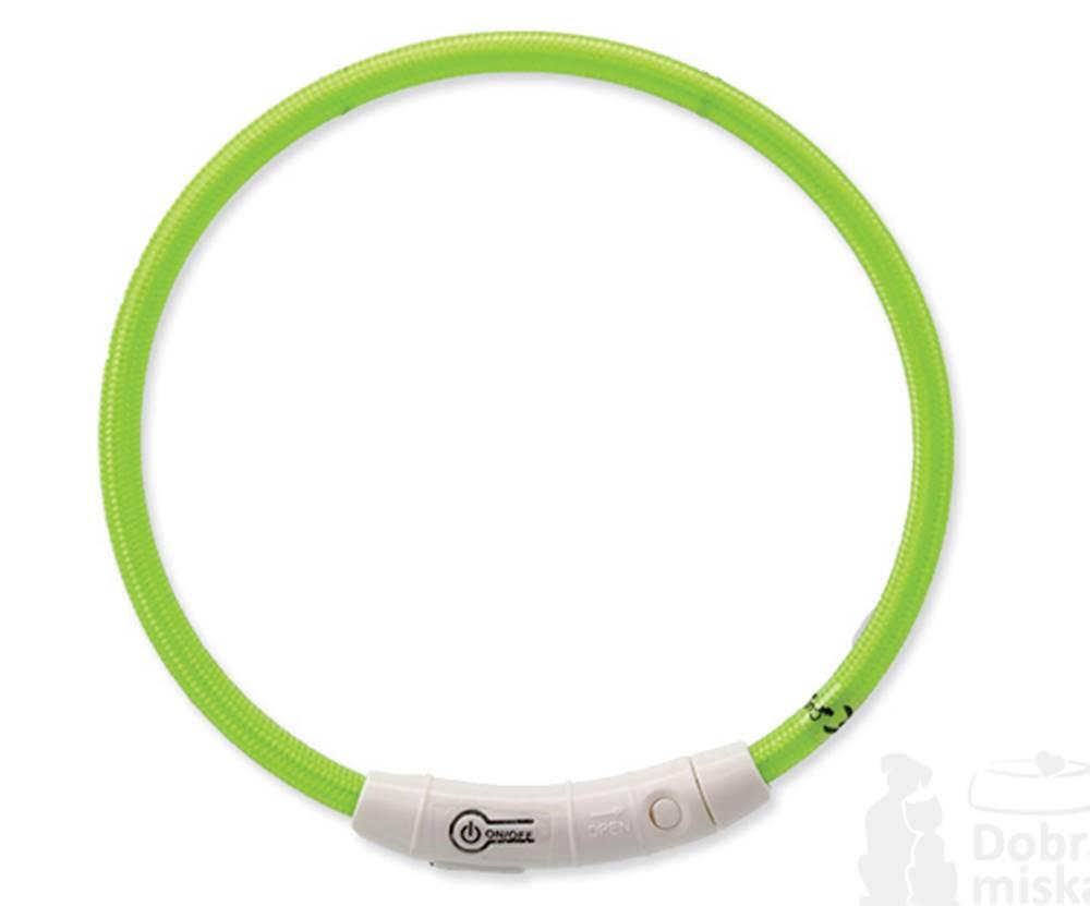 Dog Fantasy Obojek DOG FANTASY světelný USB zelený 45 cm 1ks
