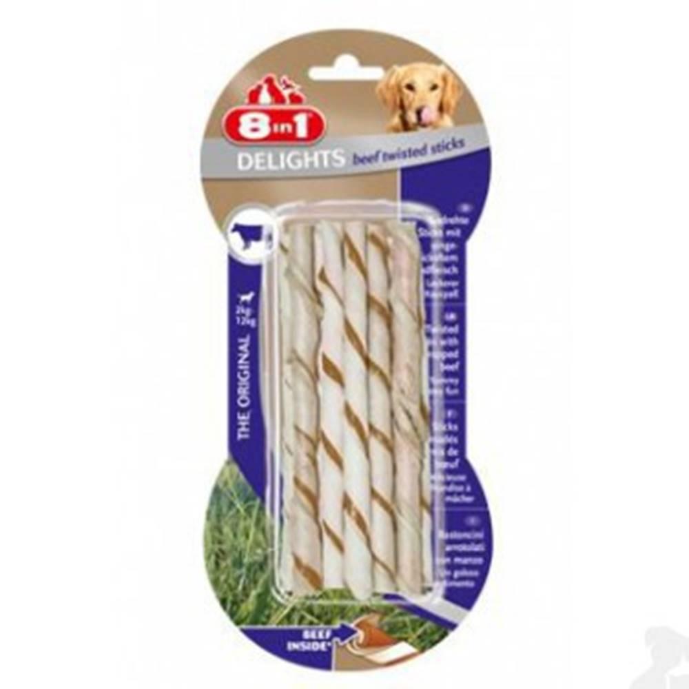 8 in 1 Pet Products GmbH Tyčinky žvýkací zakroucené Delights Beef 3ks